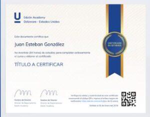 certificado enfermeria